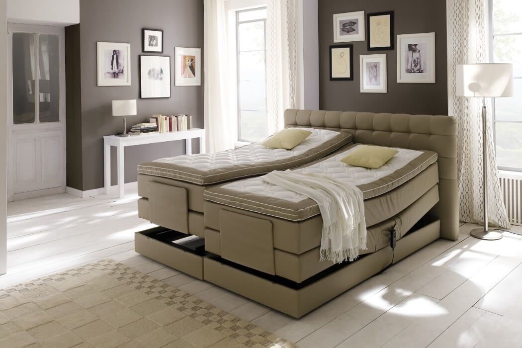 crown boxspringbett london taschenfederkern wende matratze inkl topper mit ohne motor z b. Black Bedroom Furniture Sets. Home Design Ideas