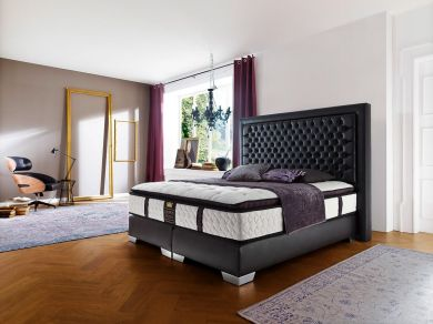 boxspringbetten hochwertige betten mit ohne bettkasten. Black Bedroom Furniture Sets. Home Design Ideas