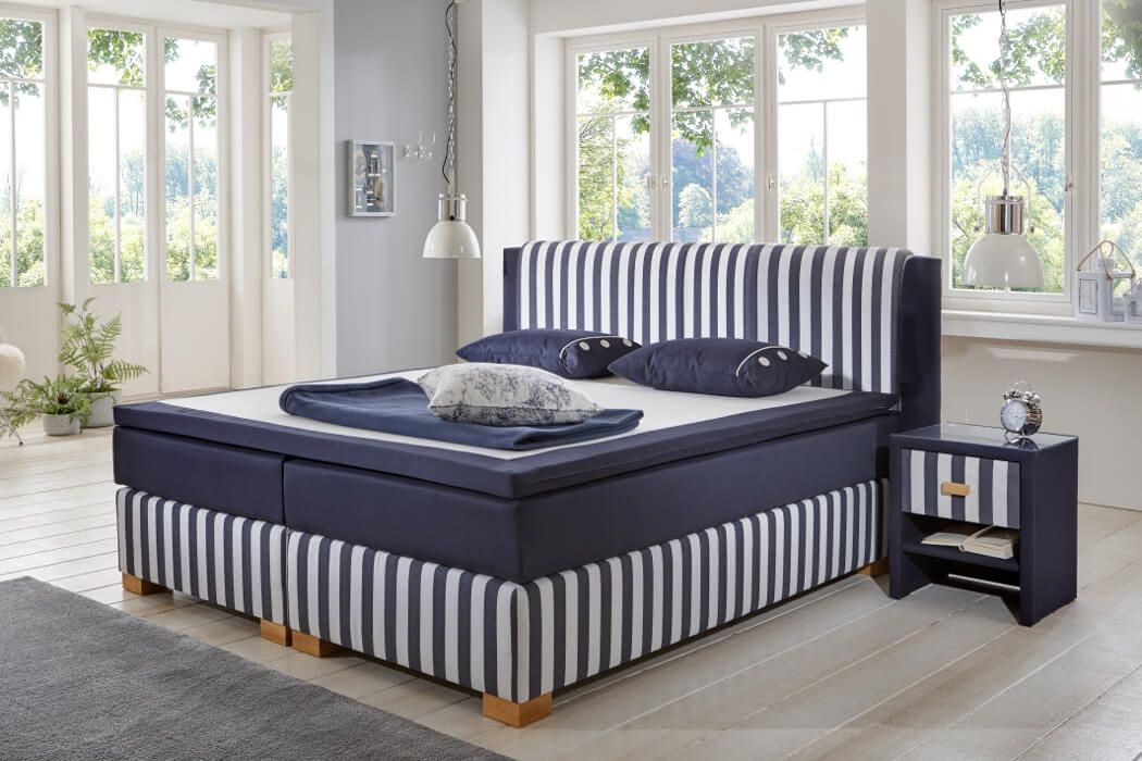 crown boxspringbett sylt taschenfederkern wende matratze inkl topper mit ohne motor rot. Black Bedroom Furniture Sets. Home Design Ideas