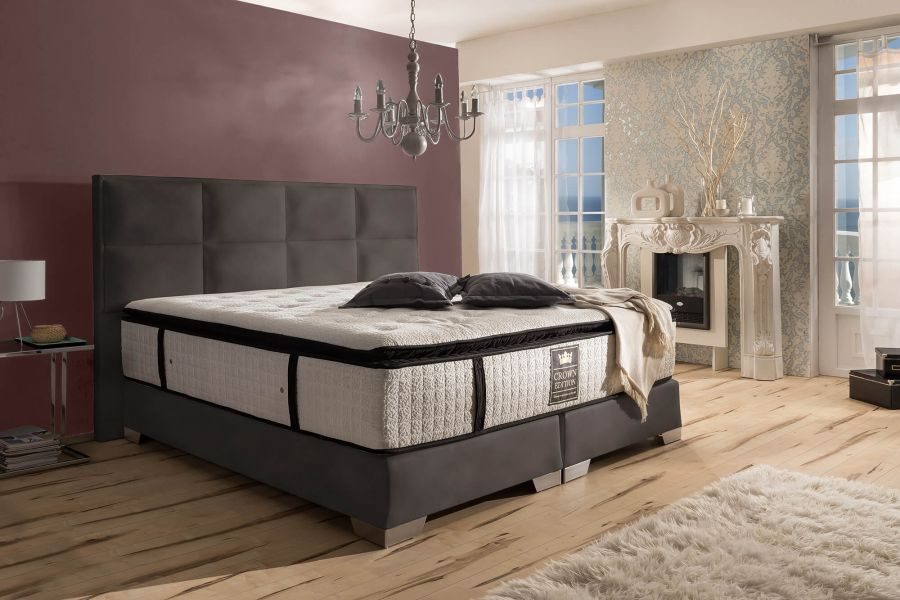 boxspringbett quadro deluxe. Black Bedroom Furniture Sets. Home Design Ideas