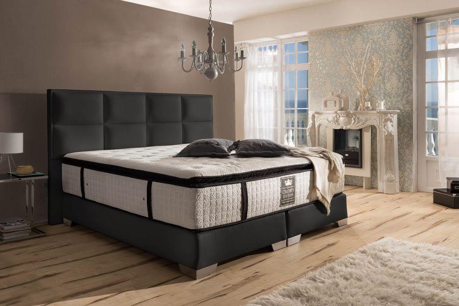 boxspringbett quadro deluxe. Black Bedroom Furniture Sets. Home Design Ideas