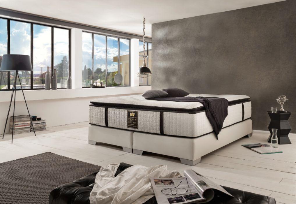 crown boxspringbett continental deluxe hohe. Black Bedroom Furniture Sets. Home Design Ideas