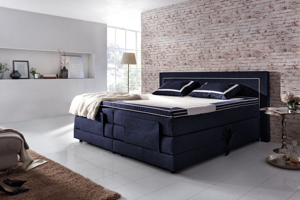 crown boxspringbett ocean race taschenfederkern wende matratze inkl topper mit ohne motor. Black Bedroom Furniture Sets. Home Design Ideas
