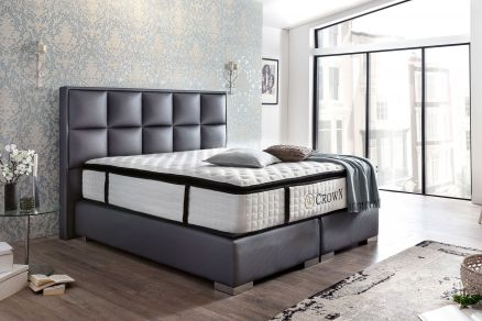 boxspringbetten hochwertige betten mit ohne bettkasten crown betten. Black Bedroom Furniture Sets. Home Design Ideas