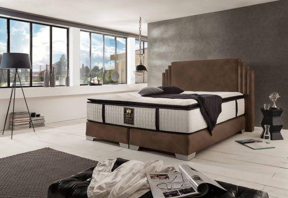 boxspringbett king george deluxe. Black Bedroom Furniture Sets. Home Design Ideas