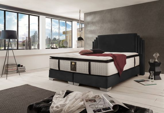 boxspringbett king george deluxe. Black Bedroom Furniture Sets. Home Design Ideas