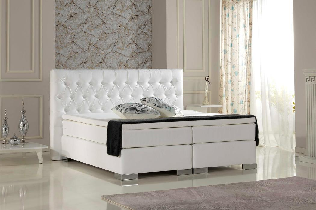 crown boxspringbett living plus taschenfederkern wende matratze inkl topper mit ohne motor. Black Bedroom Furniture Sets. Home Design Ideas