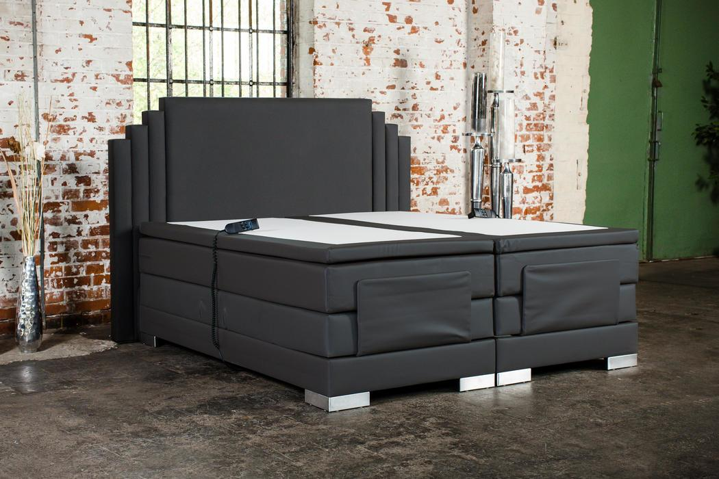 crown boxspringbett king george taschenfederkern wende matratze inkl topper mit ohne motor. Black Bedroom Furniture Sets. Home Design Ideas
