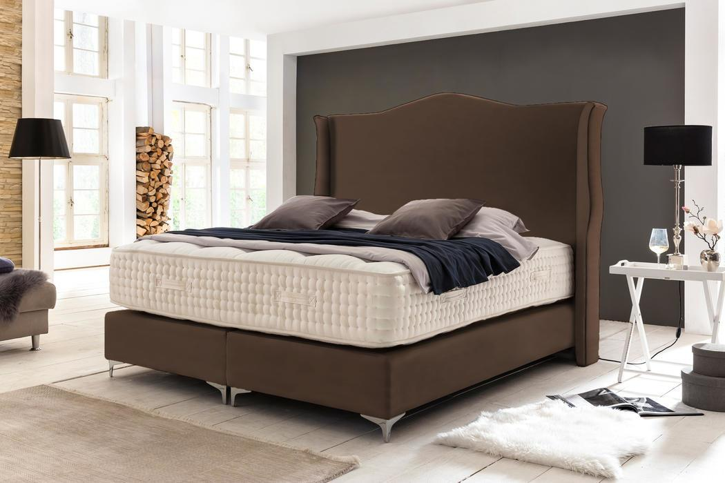 crown boxspringbett brighton deluxe taschenfederkern matratze inkl topper z b gestreift. Black Bedroom Furniture Sets. Home Design Ideas