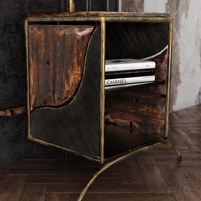 Boxspringbett Industrial Design Set I