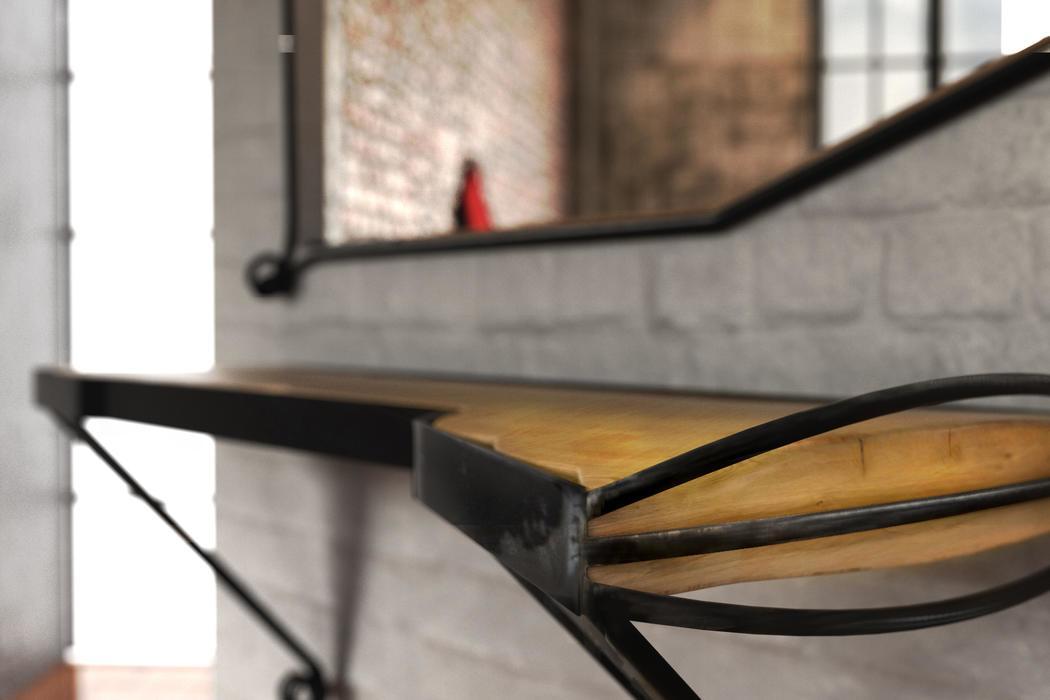 Boxspringbett Industrial Design Set III