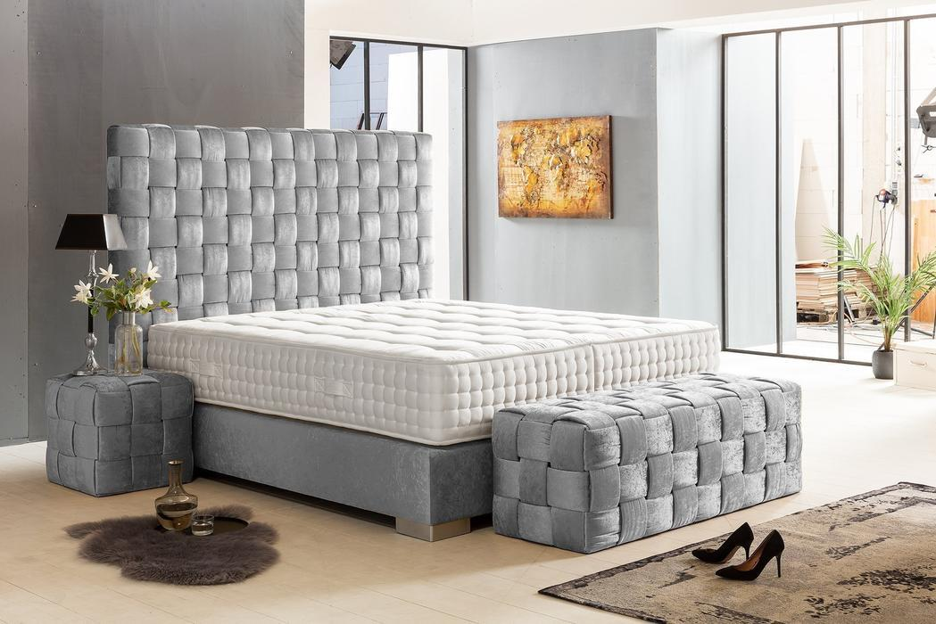 crown boxspringbett belfast deluxe hohe taschenfederkern matratze inkl topper z b gold. Black Bedroom Furniture Sets. Home Design Ideas