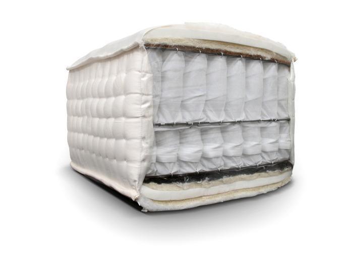 crown premium amerikanische boxspring taschenfederkern matratze 37 cm hoch handmade latex. Black Bedroom Furniture Sets. Home Design Ideas